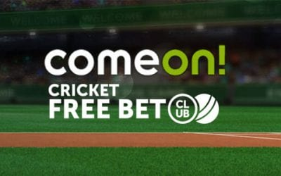 It's Raining Cricket Free Bets Every Week on ComeOn!