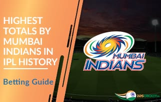 Highest Totals by Mumbai Indians in IPL History