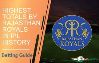Highest Totals by Rajasthan Royals in IPL History